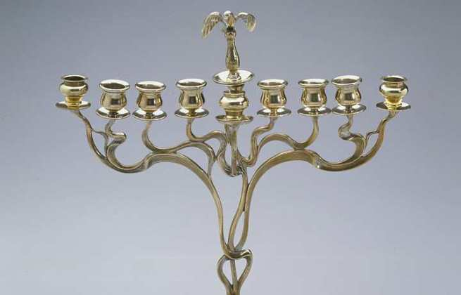 A German Menorah, from the late 19th or early 20th century.Photo from the LA Times.