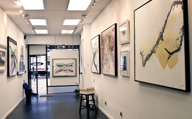 The gallery (1482 First Avenue, between 77 and 78 in Manhattan, showing his series on Creation.