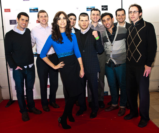 Allison Josephs with the all star Maccabeats and Dimitry Salita