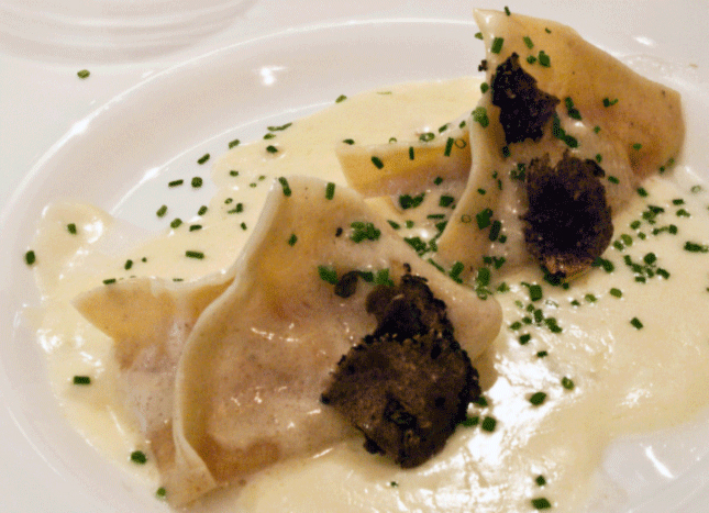 Homemade Truffle and Butternut Squash Ravioli