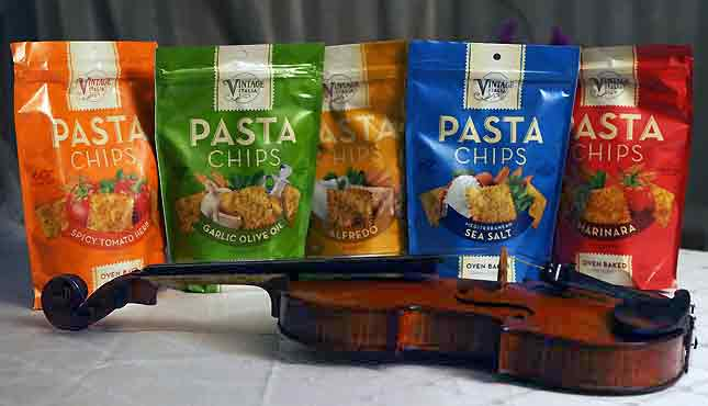 Spicy Tomato Herb, Garlic Olive Oil, Alfredo, Sea Salt and Marinara.  Each of the five flavors will have you humming Italian tunes...