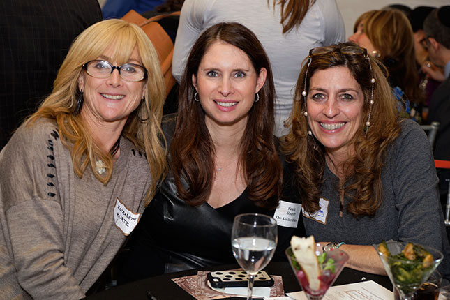 Elizabeth Kurtz (Gourmet Kosher Cooking), Pastry Chef Paula Shoyer, Kim Amzallag (Forwards' Advertising Manager)