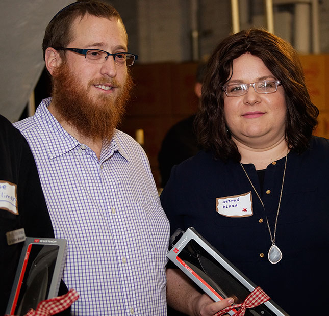 The couple behind Joy of Kosher magazine's everyday functioning.