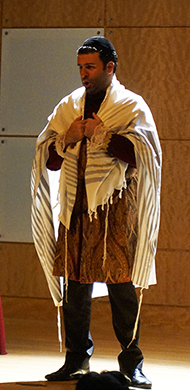 David Serero, as Shylock, in a Sephardic version of Shalom Alechem.